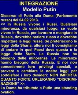 Putin conserva integri i valori, a partire dalla famiglia!