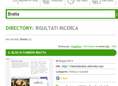 Blog approvato da BlogItalia, i migliori Blog Italiani.