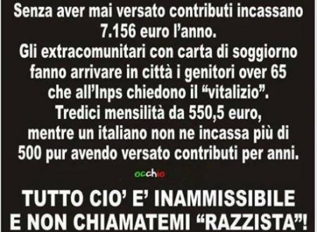 Gli Italiani C H I E D O N O pari opportunita' con i migranti!