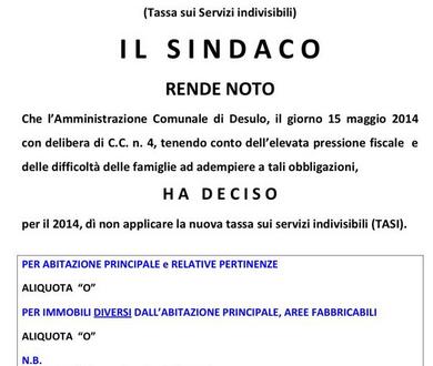 Esemplari iniziative di diversi Comuni Italiani, a seguito della alta pressione fiscale
