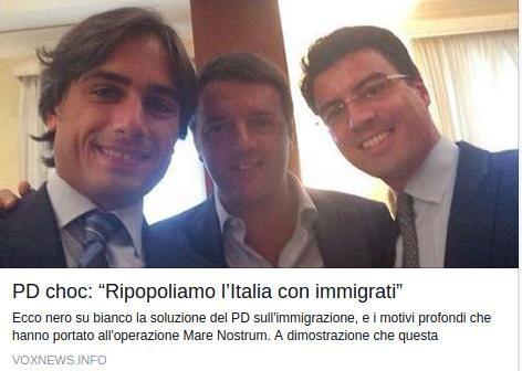 """PD CHOC: """"RIPOPOLIAMO L'ITALIA CON IMMIGRATI"""""""